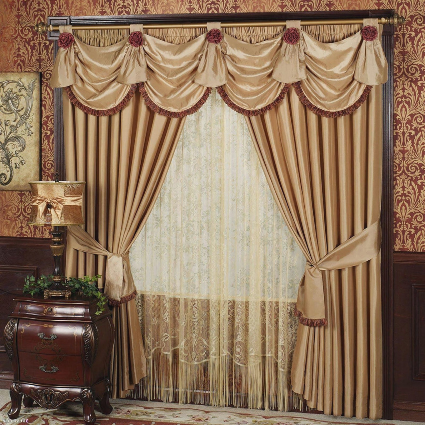 Living Room Drapes With Valances | Valances For Living Room in Fancy Curtains For Living Room