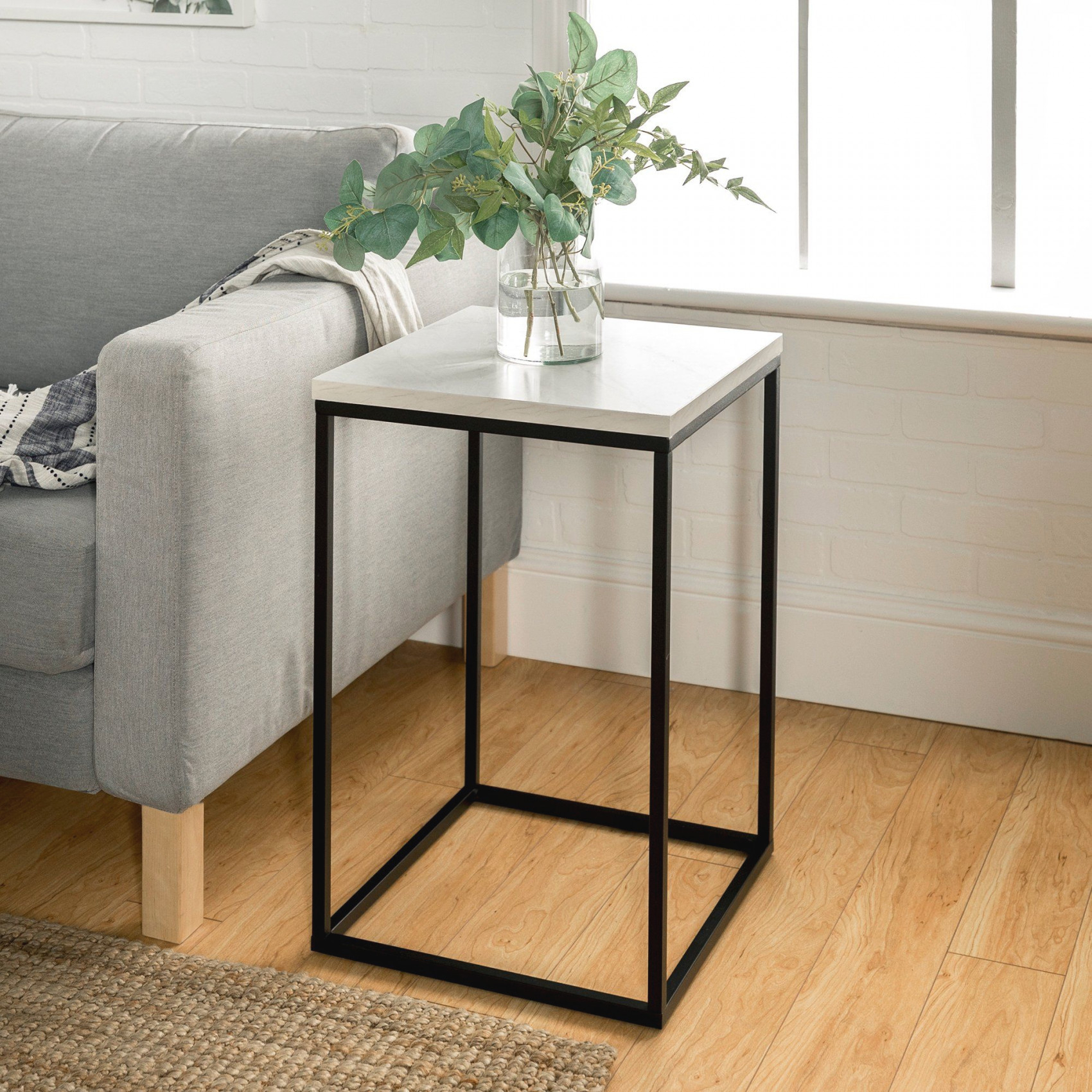 Modern Side Table – White Marble | Living Room Accent Tables intended for 9+ Awesome Inspiration For Small End Tables Living Room
