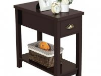 Small End Table Narrow Side Storage Wood Living Room Furniture Night Stand regarding Small End Tables Living Room