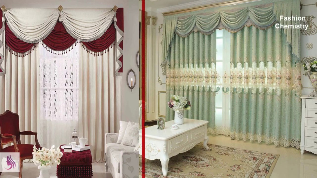 Top 50 Stylish & Simple Curtain Designs / Living Room Curtain Ideas 2018 regarding Ideas Gallery For Curtain Styles For Living Rooms