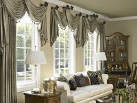 10 Curtain Ideas For An Elegant Living Room with 10+ Ideas Window Valances For Living Room