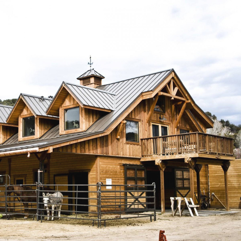10 Houses With Incredible Stables | Family Handyman throughout Awesome Ideas For Horse Barns With Living Quarters