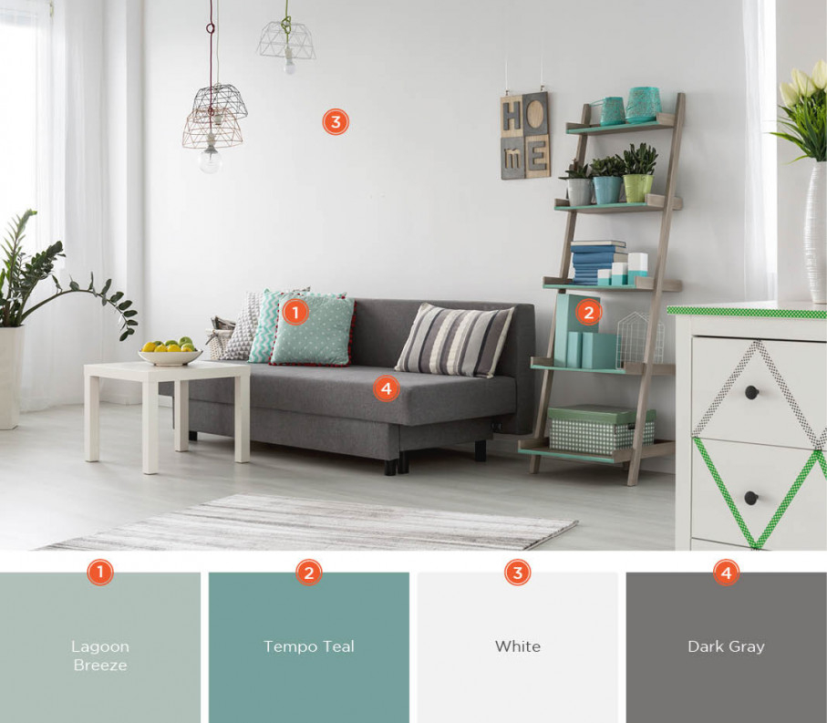 20 Inviting Living Room Color Schemes | Ideas & Inspiration for Gray And Teal Living Room