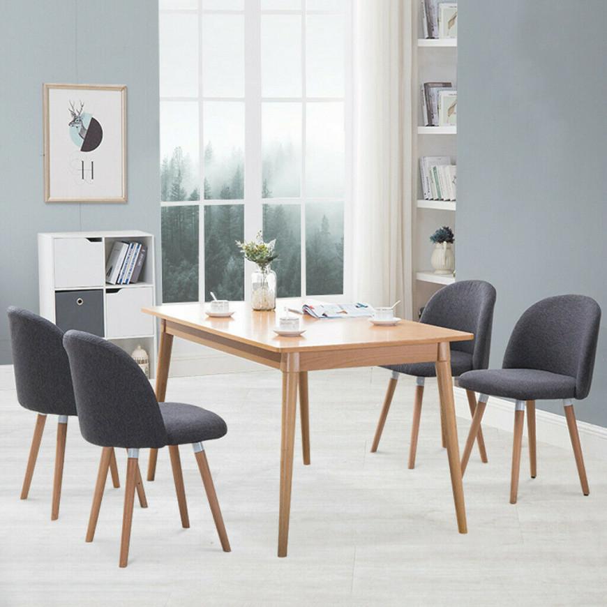 2Pc Velvet Dining Chairs For Living Room Modern Side Mid Century Chairs with Modern Chairs For Living Room
