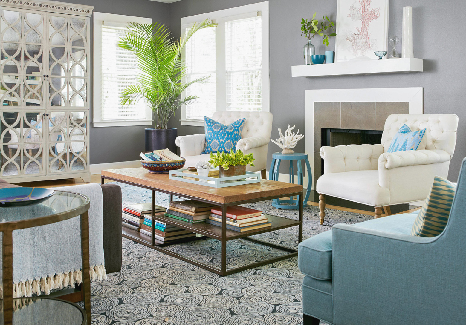 33 Living Room Color Schemes For A Cozy, Livable Space within Beautiful Gallery Gray And Teal Living Room