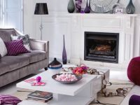 50 Purple Living Room Ideas regarding Purple And Grey Living Room Ideas