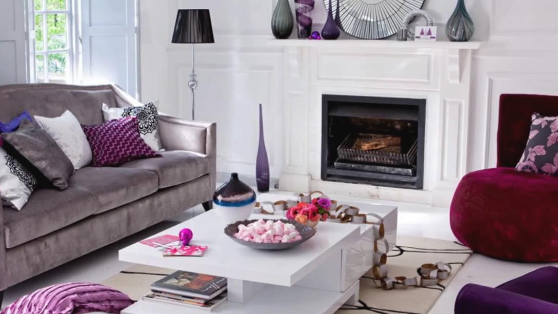 50 Purple Living Room Ideas regarding Purple And Grey Living Room Ideas