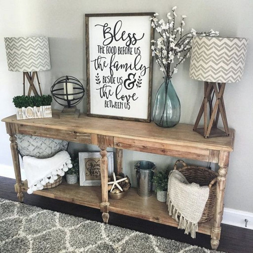 50+ Rustic Wall Decor Ideas | Home Decor, Farm House Living with regard to Wall Tables For Living Room