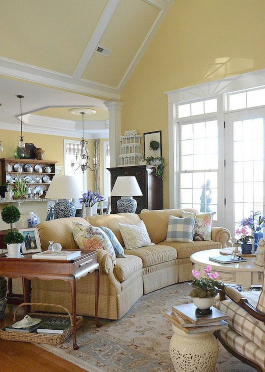 57 Gorgeous French Country Living Room Decor Ideas   French in French Country Living Room Ideas