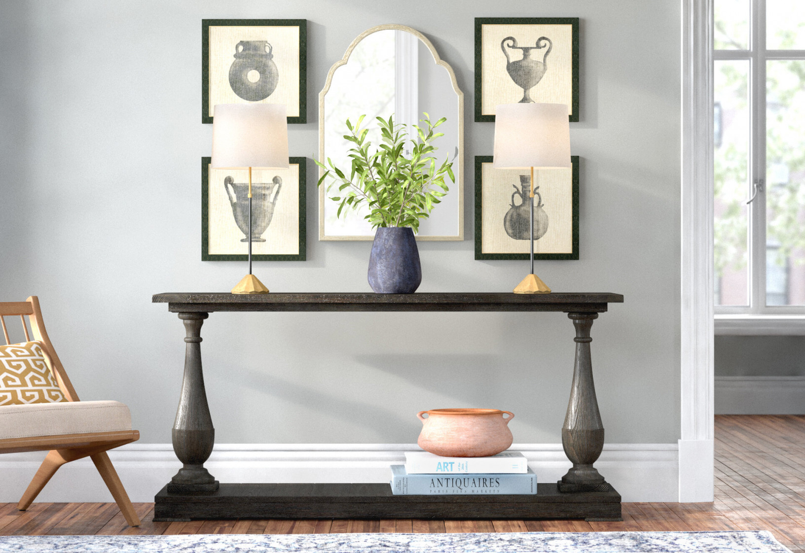 6 Ways To Style Your Console Table | Joss & Main for Wall Tables For Living Room