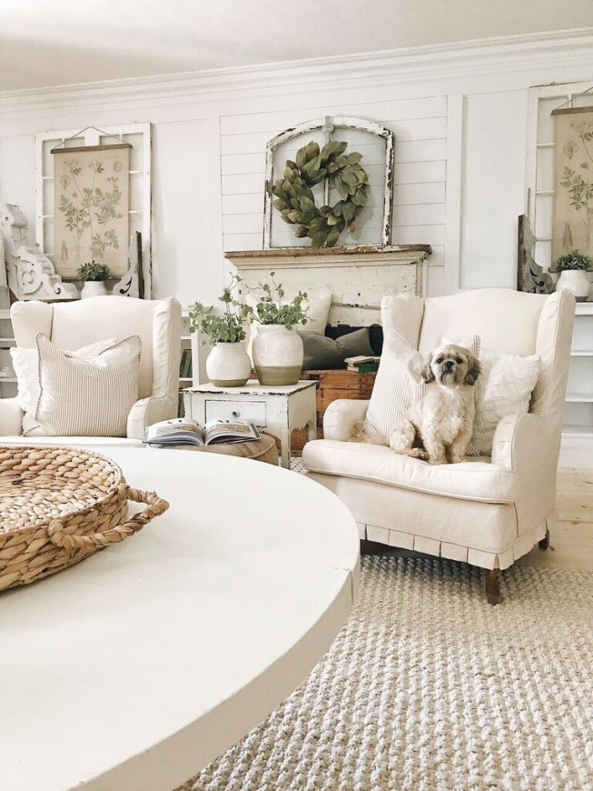 A Diy Weekend Re-Cap   Farm House Living Room, Country with French Country Living Room Ideas