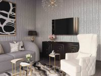 Accent Chairs – Tov Furniture inside Awesome Ideas For High Back Living Room Chairs