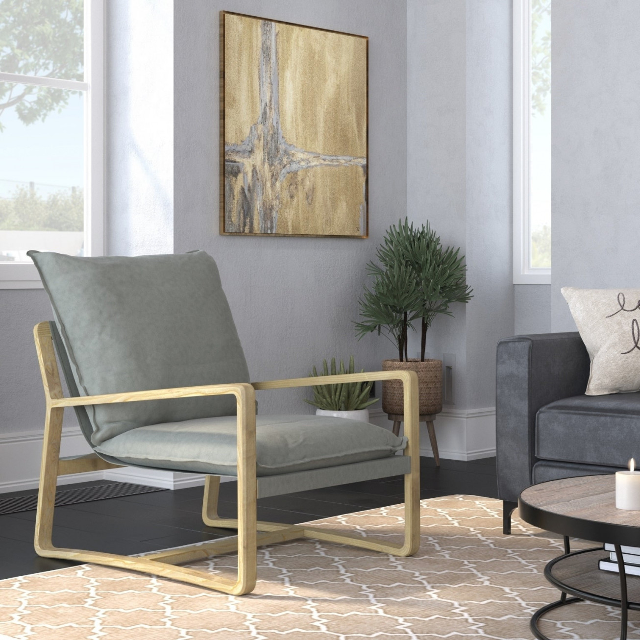 Amarantos Modern Accent Chair Living Room Lounge Chair Sofa pertaining to Modern Chairs For Living Room