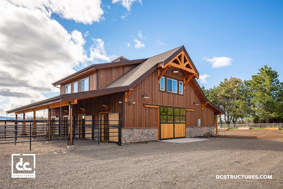 Apartment Barn Kits - Dc Structures pertaining to Horse Barns With Living Quarters