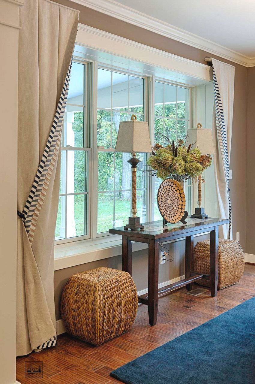Baldwin Home | Window Treatments Living Room, Living Room regarding 10+ Ideas Curtains For Large Living Room Windows