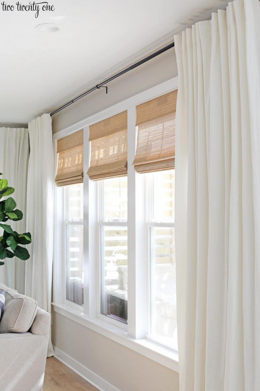 Budget-Friendly Living Room Window Treatments | Window with Curtains For Living Room Window