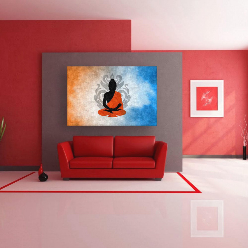 Canvas Painting - Beautiful Buddha Art Modern Wall Painting For Living Room, Bedroom, Office, Hotels, Drawing Room (91Cm X 61Cm) in 10+ Inspiration For Wall Paintings For Living Room