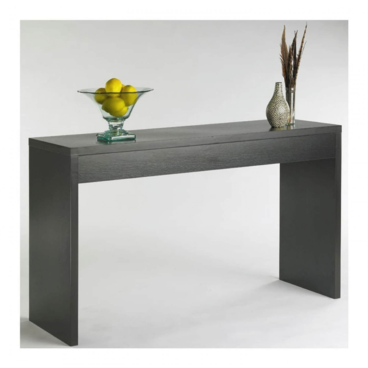 Contemporary Living Room Console Wall / Sofa Table In Espresso - Pictured in 14+ Inspiration Gallery For Wall Tables For Living Room
