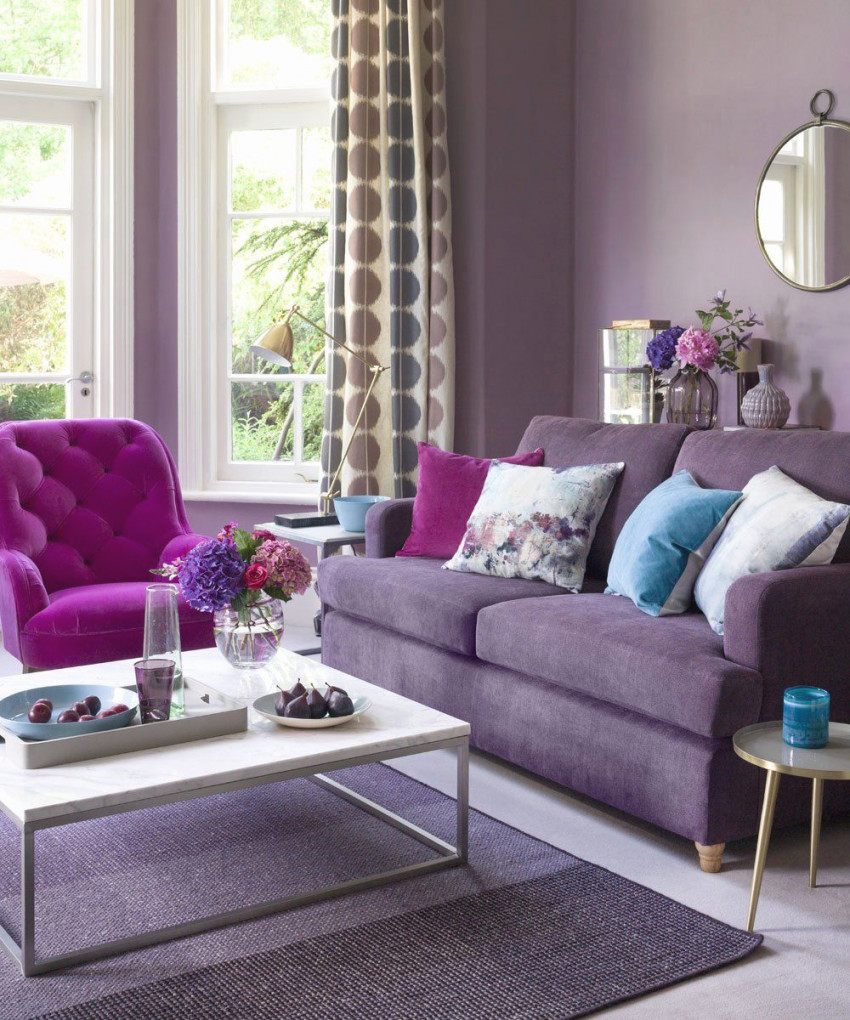 Cream And Purple Living Room Idea Elegant Living Room Paint pertaining to 12+ Awesome Gallery For Purple And Grey Living Room Ideas