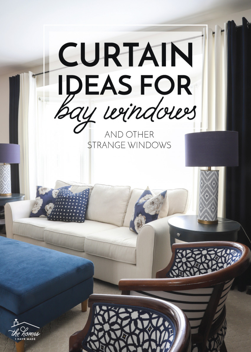 Curtain Ideas For Bay Windows (And Other Strange in Curtains For Large Living Room Windows