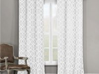 Duck River Textile Geometric White Polyester Room Darkening Pole Top Window Curtain 36 In. W X 84 In. L (2-Pack)-Harris 10881D=12+ – The Home Depot inside 10+ Awesome Curtains For Living Room Window