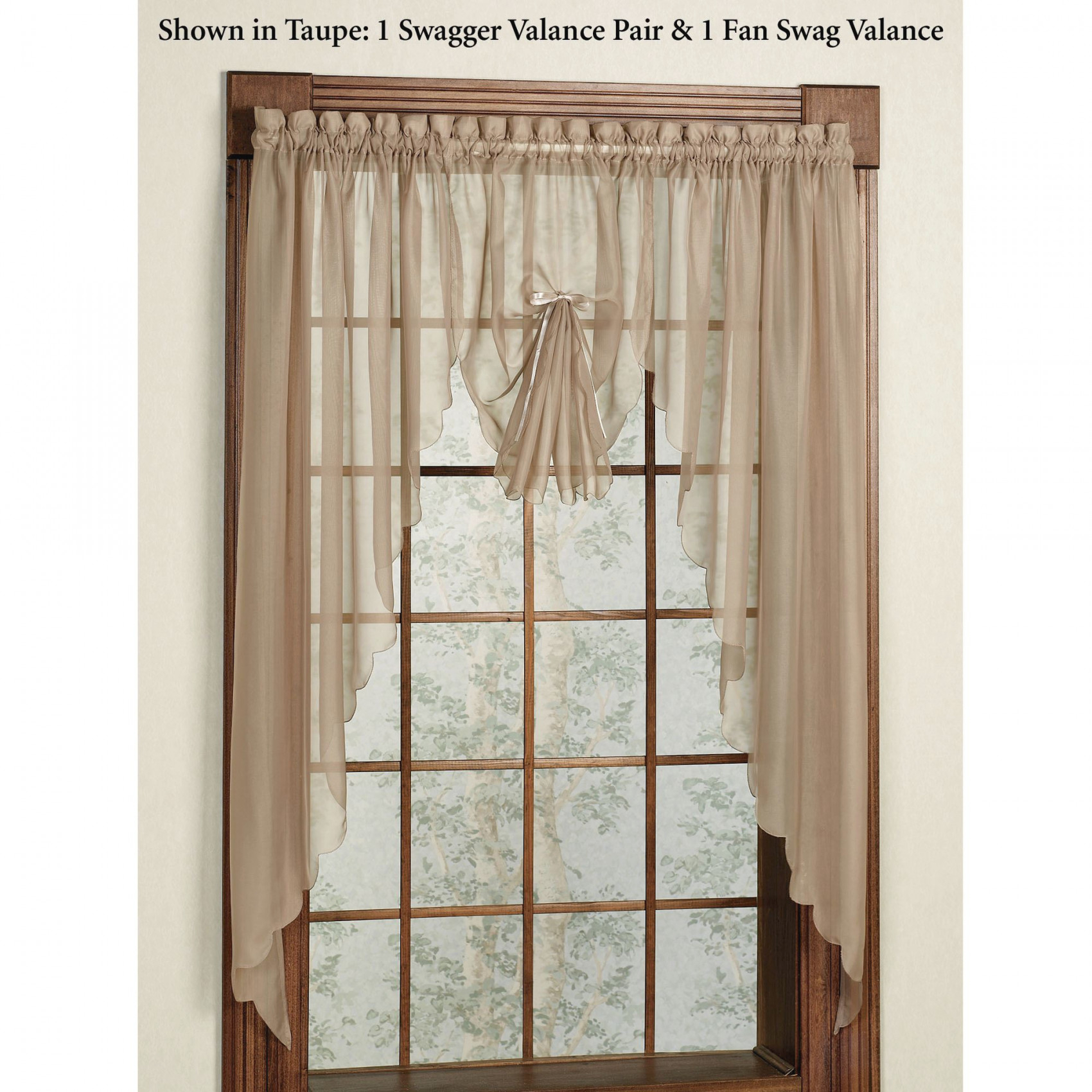 Emelia Sheer Swag Valances And Window Treatments in 14+ Inspiration Gallery For Valance Curtains For Living Room