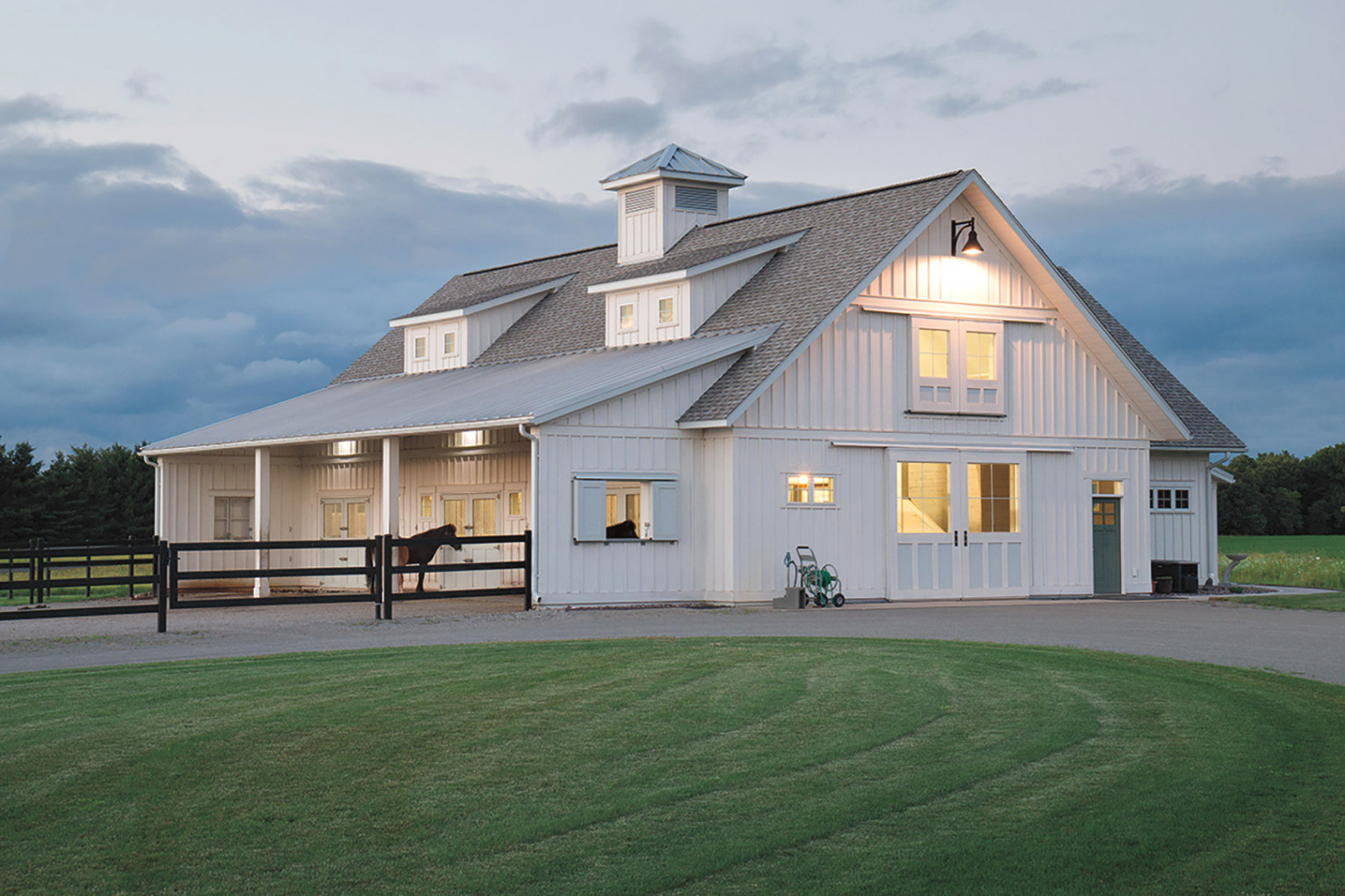 Equestrian Buildings | Metal, Post Frame Equestrian Barns pertaining to Horse Barns With Living Quarters