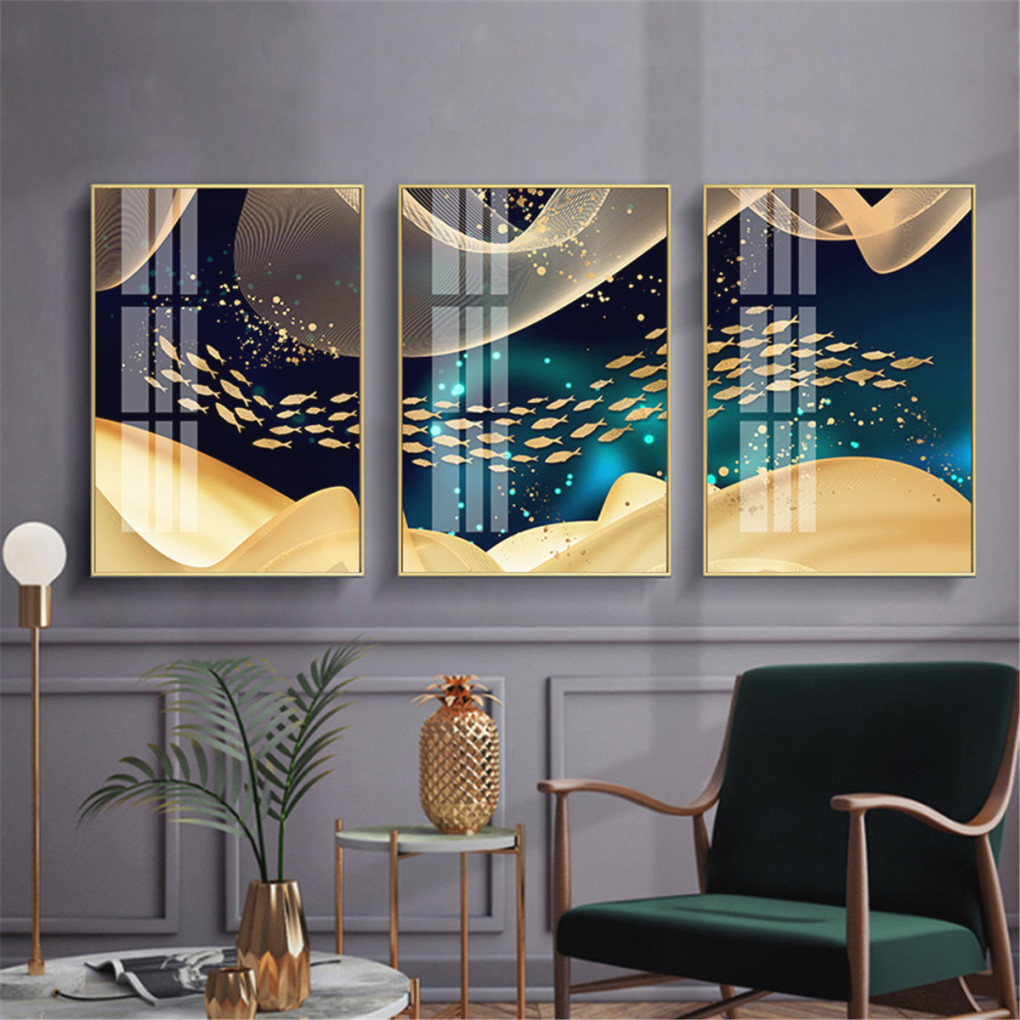 Feng Shui Koi Gold Fish Canvas Painting Abstract Living Room with 10+ Inspiration For Wall Paintings For Living Room