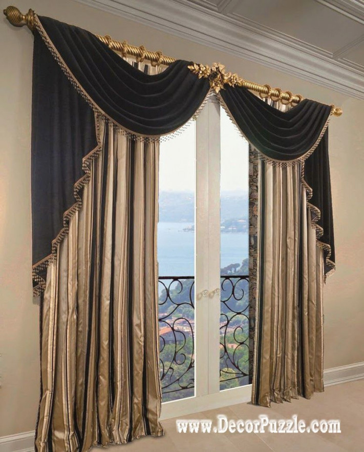 French Curtains Ideas, Modern Luxury Curtains Black Scarf within 15 Beautiful Ideas Luxury Curtains For Living Room