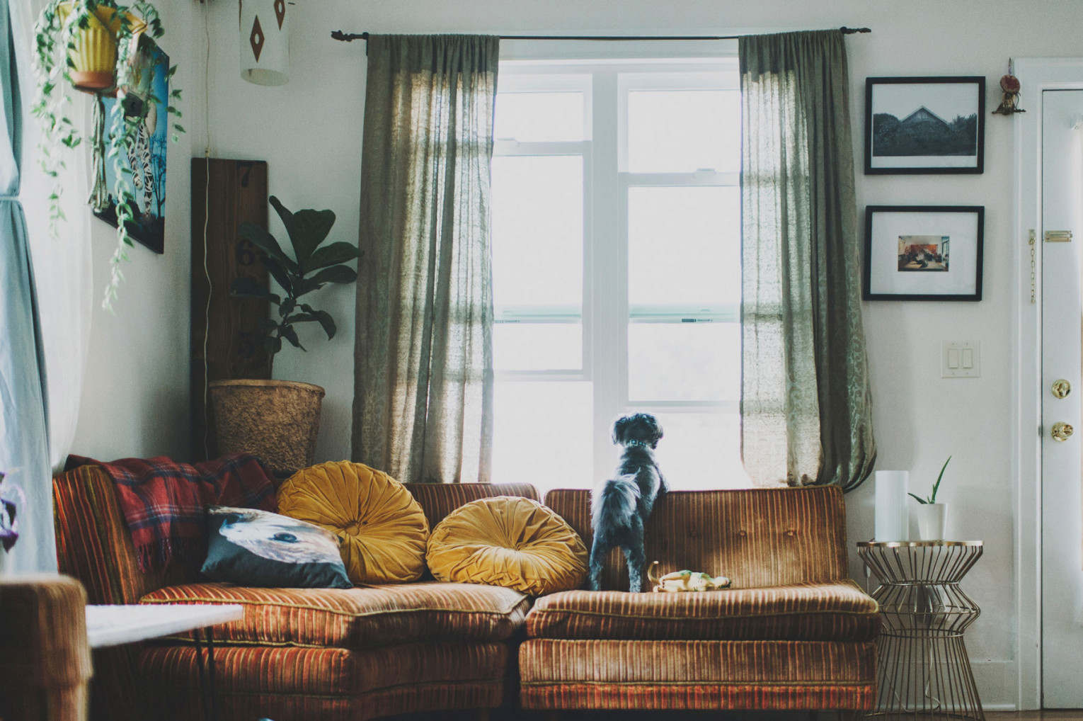 Guide To Curtains And Window Treatments | Real Simple in Curtains For Large Living Room Windows