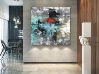 Large Original Abstract Painting – Modern Art, Living Room intended for 10+ Inspiration For Wall Paintings For Living Room