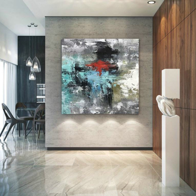 Large Original Abstract Painting - Modern Art, Living Room intended for 10+ Inspiration For Wall Paintings For Living Room