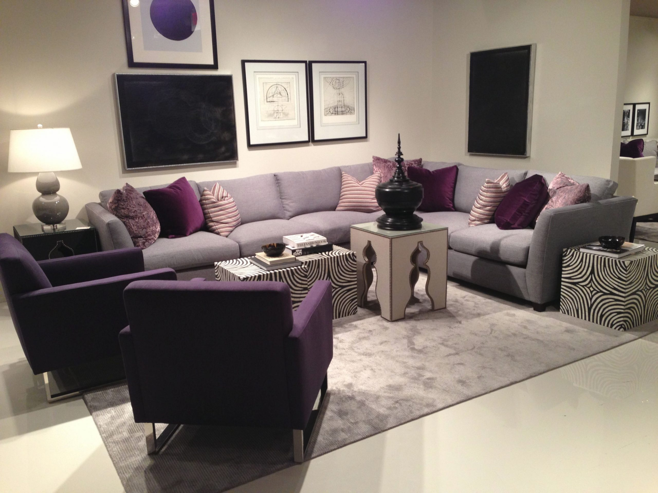Love Purple | Purple Living Room, Living Room Decor Gray within Purple And Grey Living Room Ideas