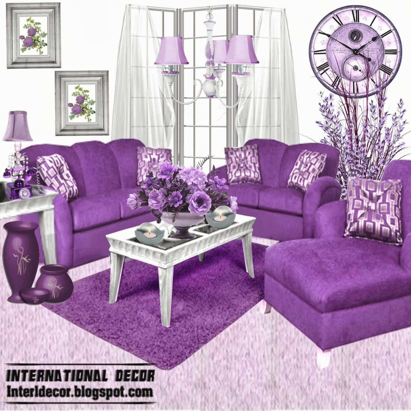 Only Furniture: Innovative Purple Grey Living Room | Home throughout Purple And Grey Living Room Ideas