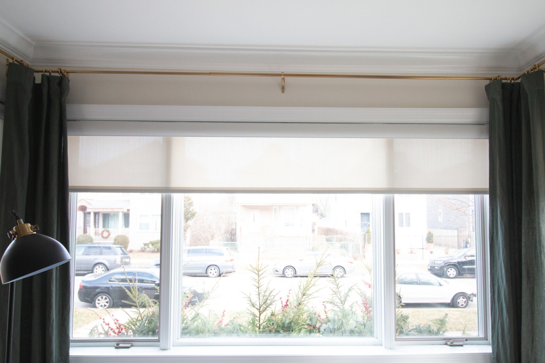Our New Living Room Window Shades | The Diy Playbook regarding Curtains For Large Living Room Windows