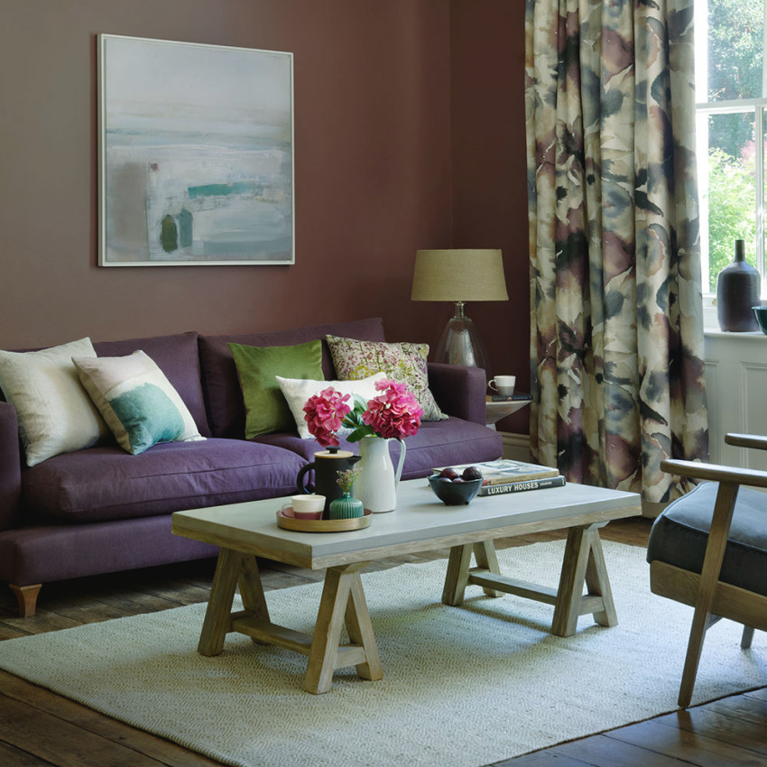 Purple Living Room Ideas | Ideal Home in 12+ Awesome Gallery For Purple And Grey Living Room Ideas