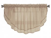 Sheer Voile Valance Curtain For Windows Size 54 In X 24 In Scalloped With Ribbon For Kitchens, Living Room, Dining Room, Bathroom, Bay Windows, regarding 14+ Inspiration Gallery For Valance Curtains For Living Room