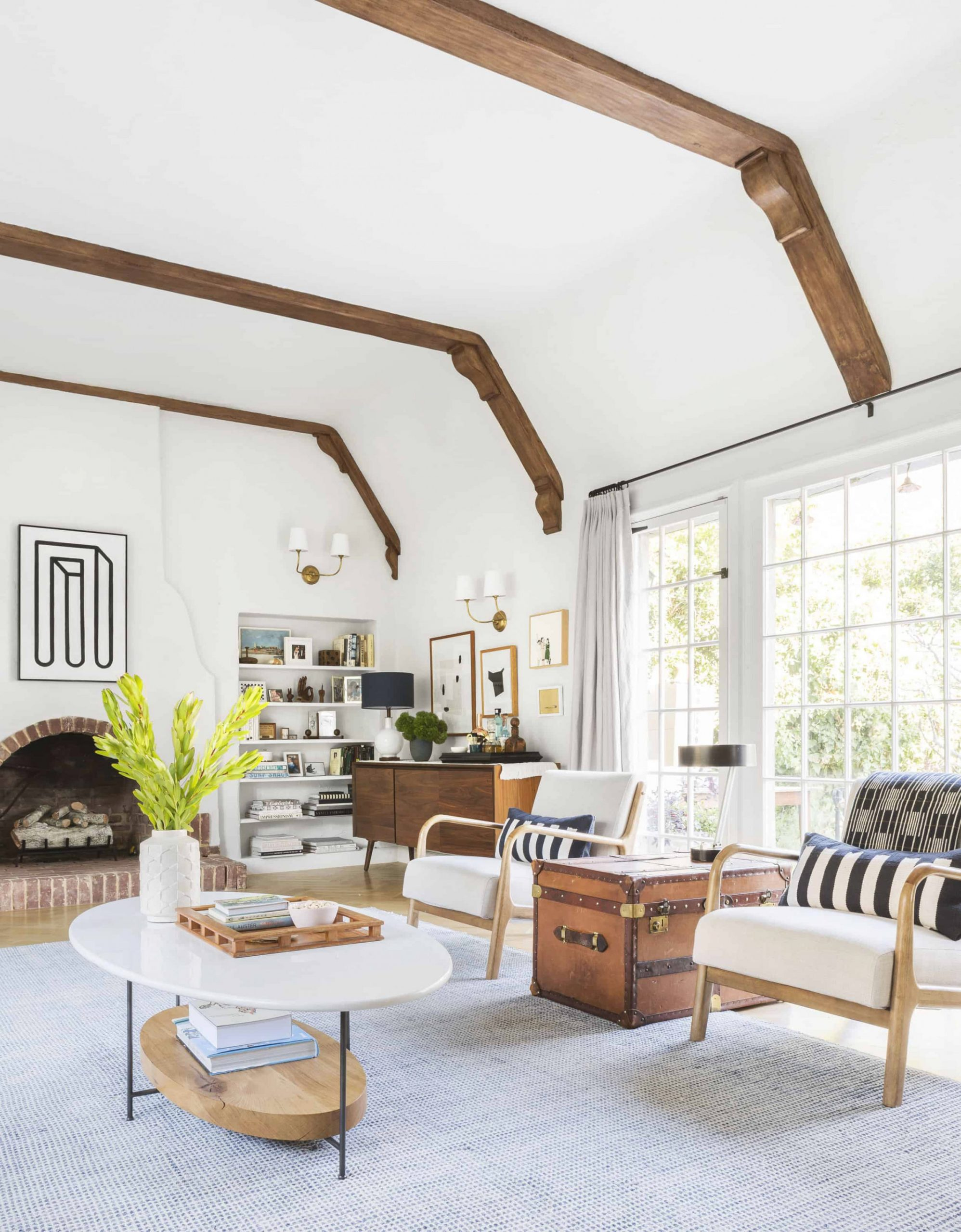 The Living Room Rules You Should Know – Emily Henderson throughout Wall Tables For Living Room