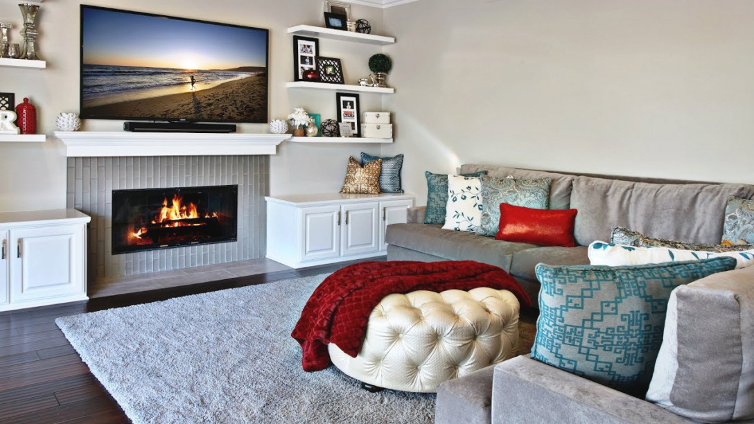 Tv Over The Fireplace - Living Room Interior in 13+ Beautiful Ideas For Living Room Ideas With Fireplace And Tv