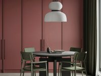 dark-red-dining-room