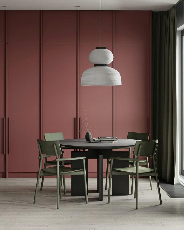 dark-red-dining-room