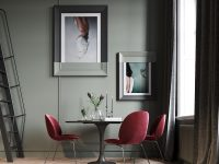 red-Gubi-dining-chairs