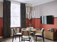 red-accent-dining-room