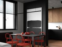 red-and-black-dining-room-set