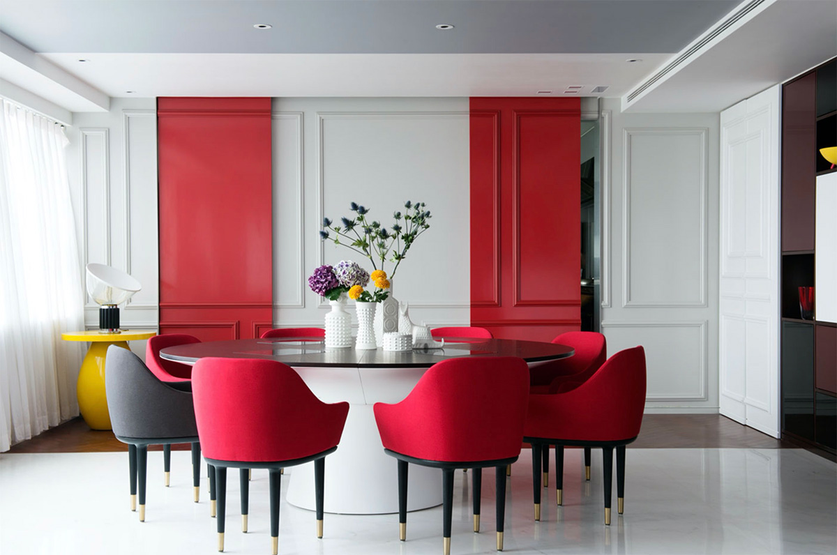 red-and-black-dining-sets