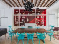 red-and-turquoise-dining-room