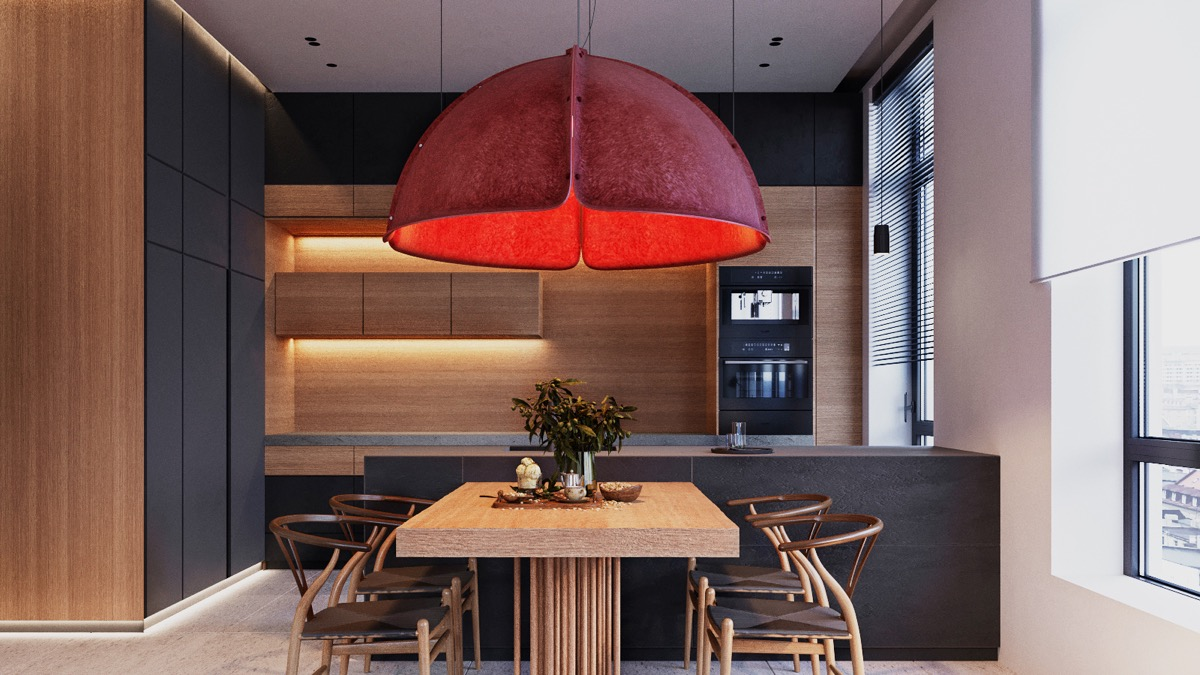 red-dining-room-pendant-light