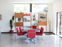 red-dining-room-set
