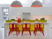 red-dining-set
