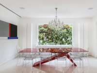 red-dining-table-set
